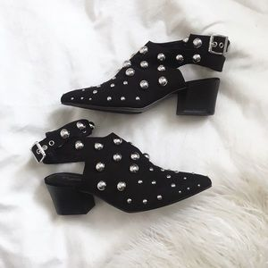 Qupid Shoes - Studded Booties